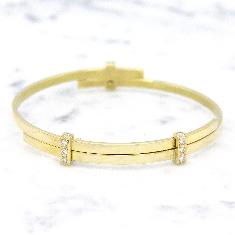 Geelgouden armband met diamanten - Mondria-1