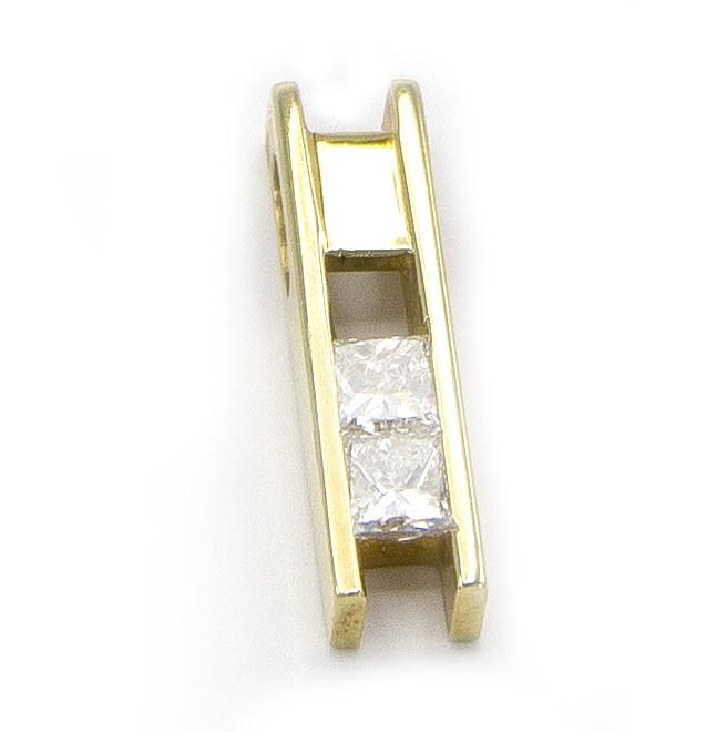 Geelgouden ketting met diamanten - Princess-4