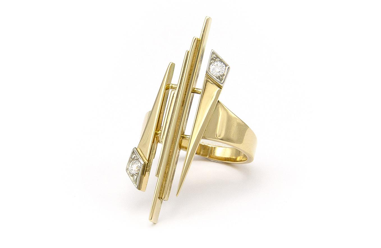 Geelgouden ring met diamant - Pastille Fragile-5