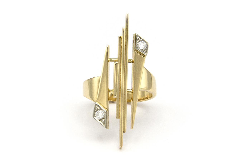 Geelgouden ring met diamant - Pastille Fragile-4