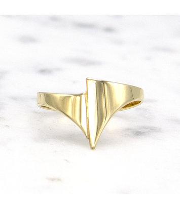 14 karaat geelgouden ring small - Archi