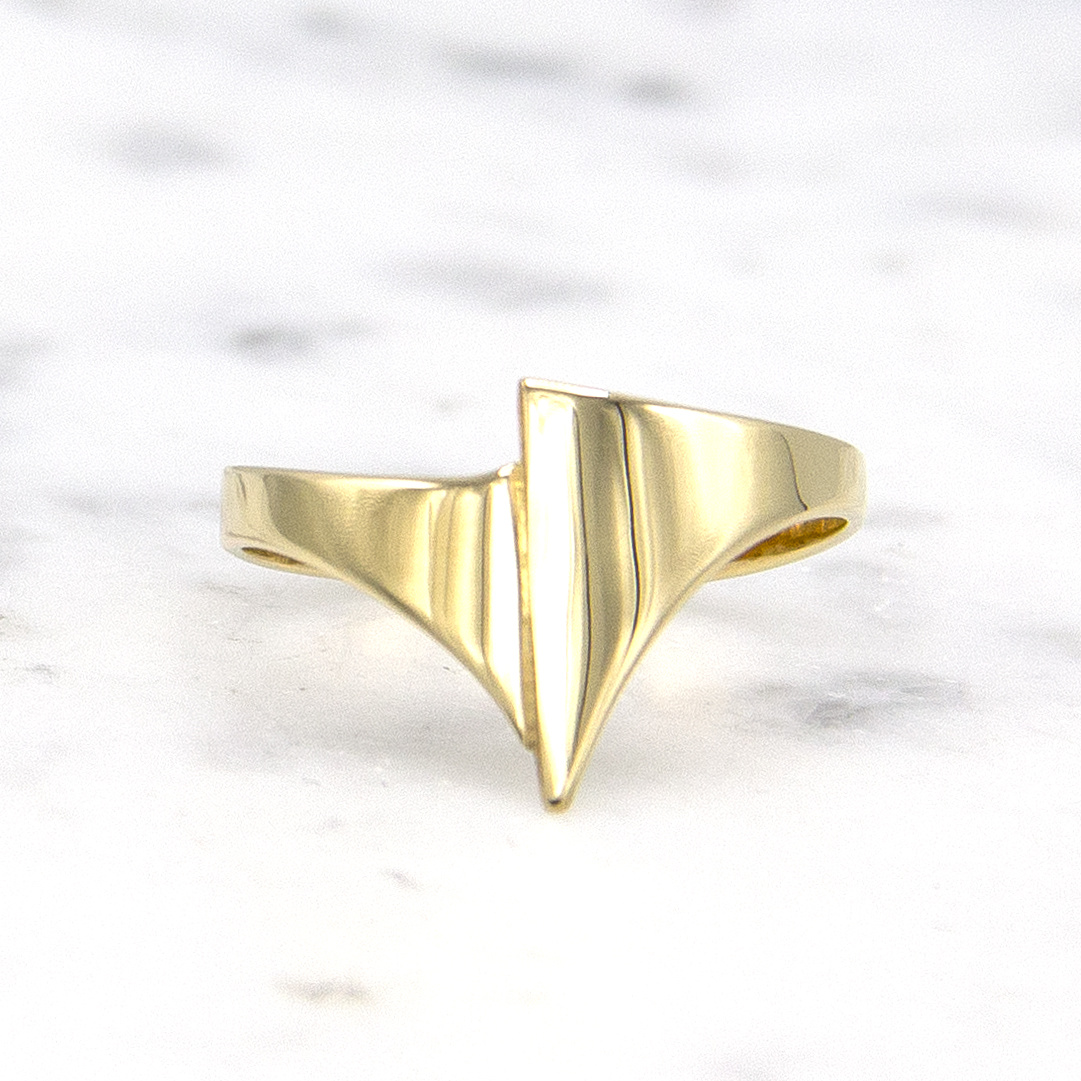 Geelgouden ring small - Archi-1