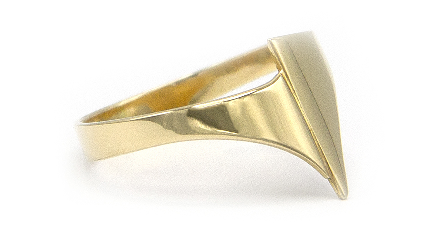 Geelgouden ring small - Archi-3