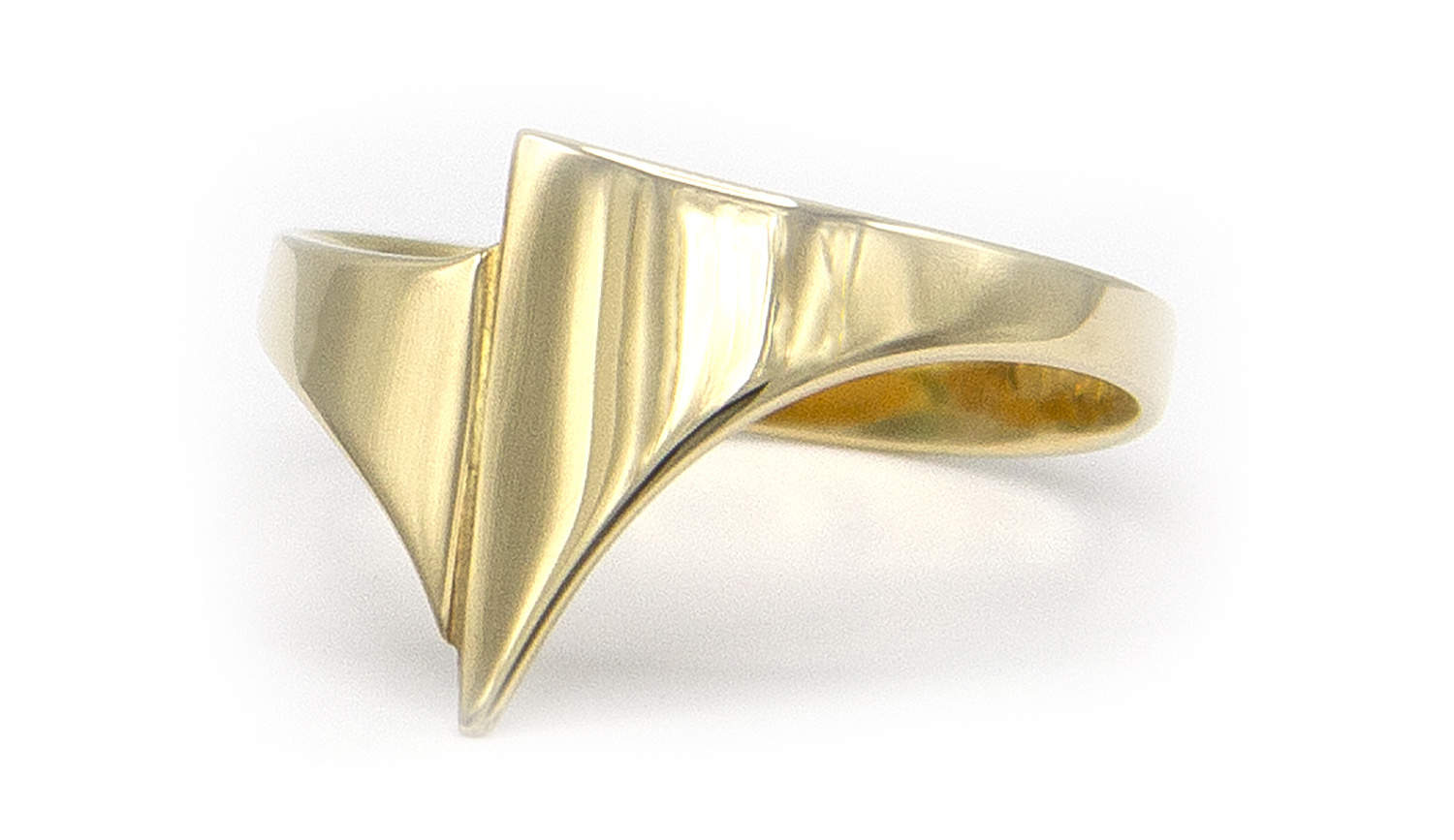 Geelgouden ring small - Archi-5
