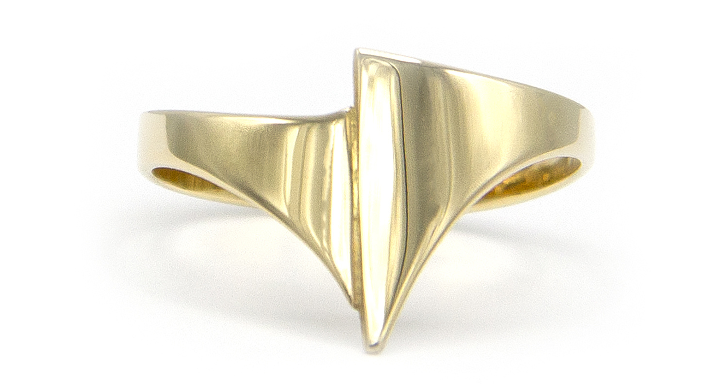 Geelgouden ring small - Archi-4