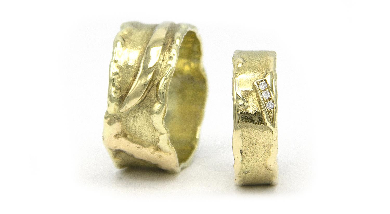 Geelgouden ring met diamanten - Grillo-6