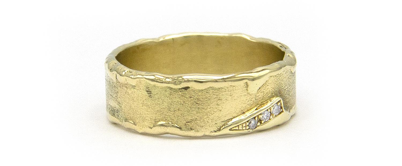 Geelgouden ring met diamanten - Grillo-3