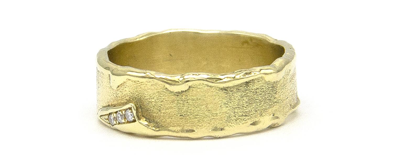 Geelgouden ring met diamanten - Grillo-5