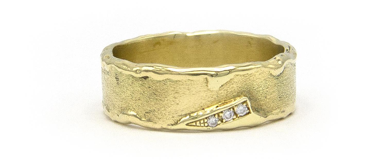 Geelgouden ring met diamanten - Grillo-4