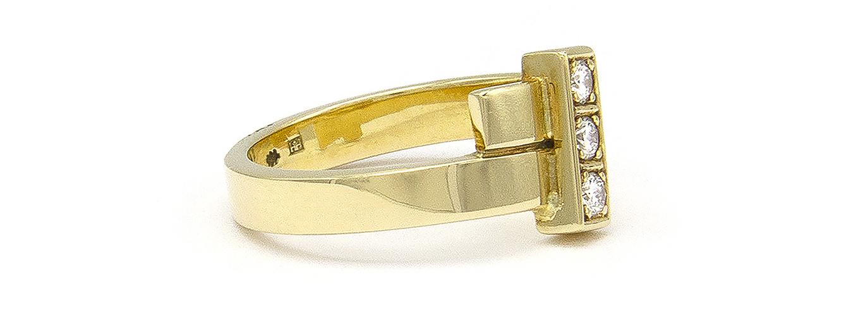 Geelgouden ring met 3 diamanten - Mondria-3