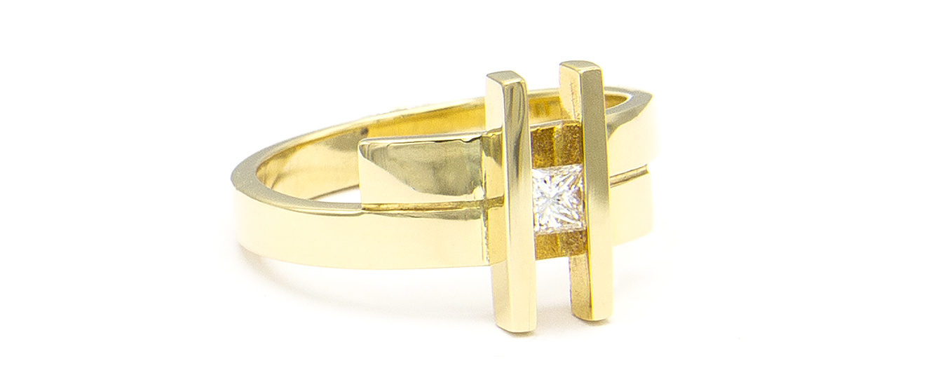 Geelgouden ring small- Princess-3
