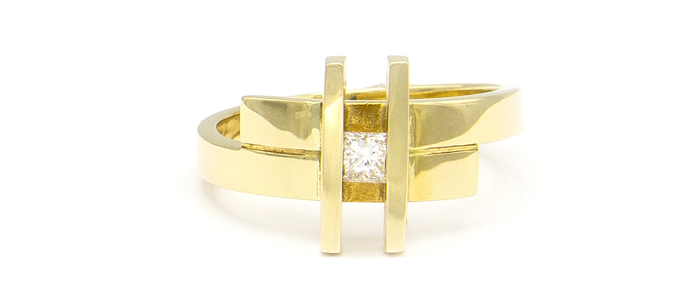 Geelgouden ring small- Princess-4