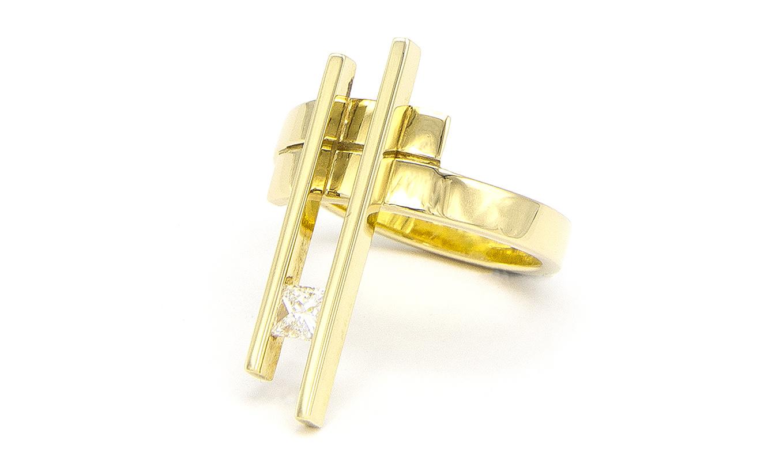 Geelgouden ring large - Princess-5