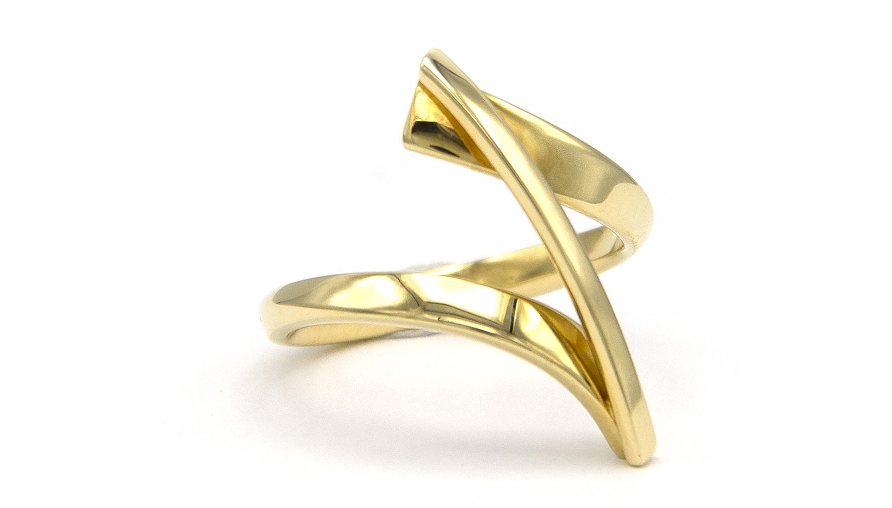 Geelgouden ring Swirll - Smedy-3