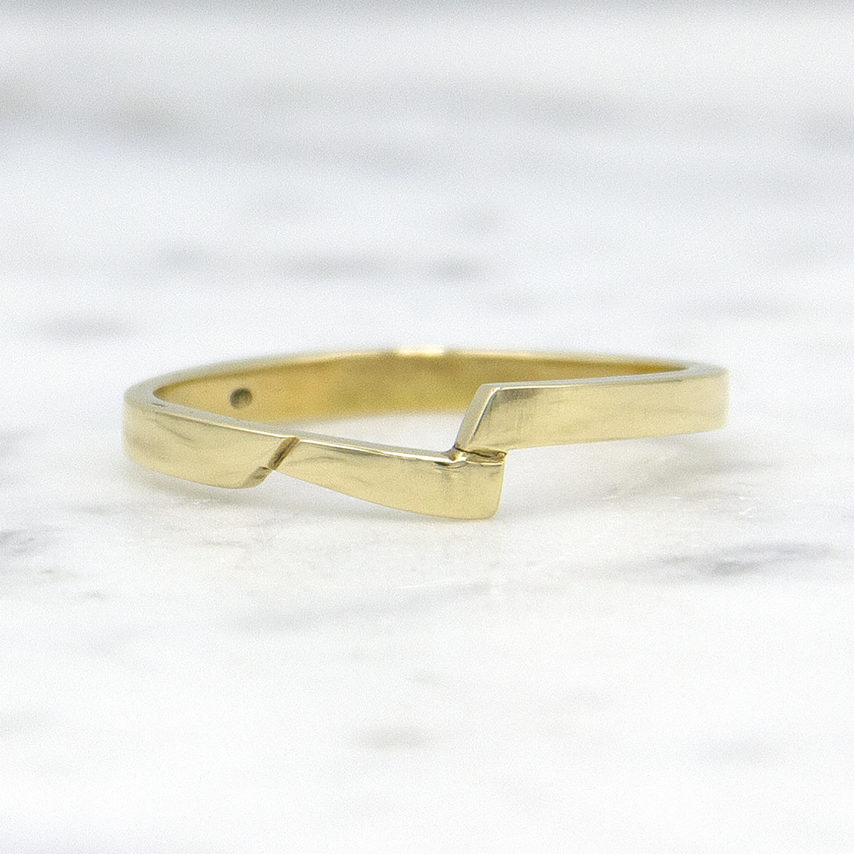 14 karaat geelgouden ring - slag - Archi-1