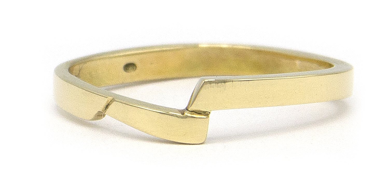 14 karaat geelgouden ring - slag - Archi-4