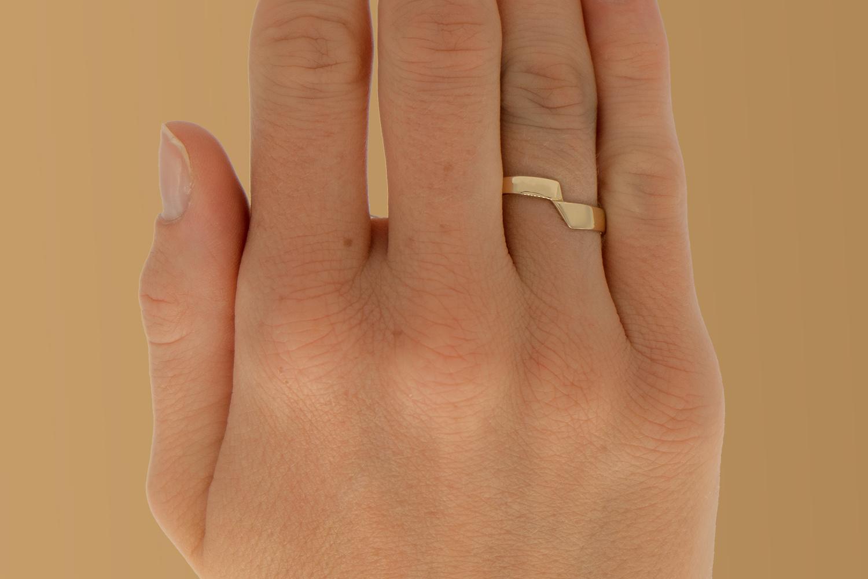14 karaat geelgouden ring - bocht - Archi-2