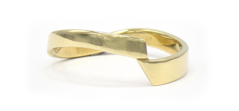 14 karaat geelgouden ring - bocht - Archi-3