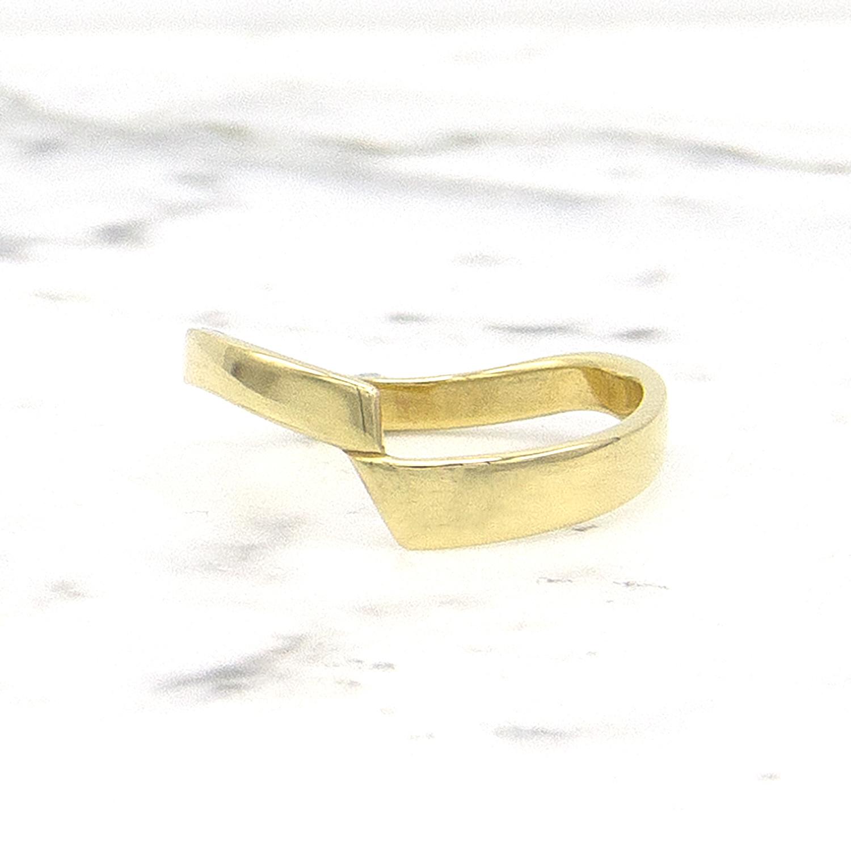 14 karaat geelgouden ring - bocht - Archi-1