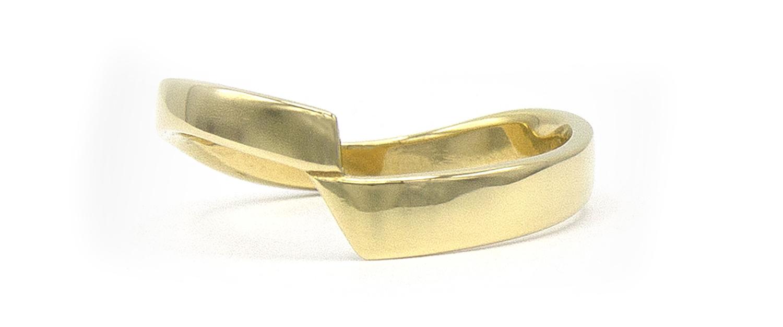 14 karaat geelgouden ring - bocht - Archi-4