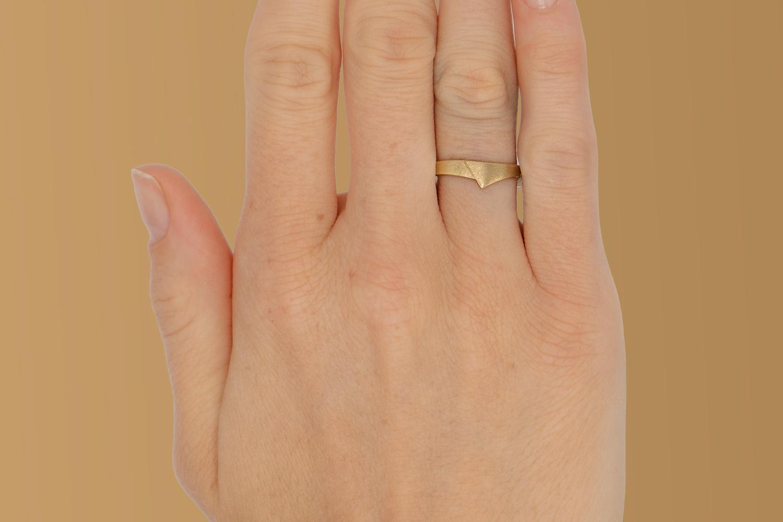 14 karaat geelgouden ring - mat - Archi-2