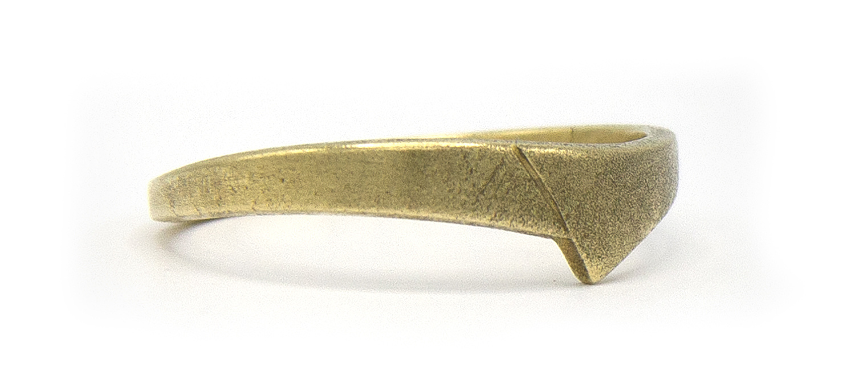 14 karaat geelgouden ring - mat - Archi-3