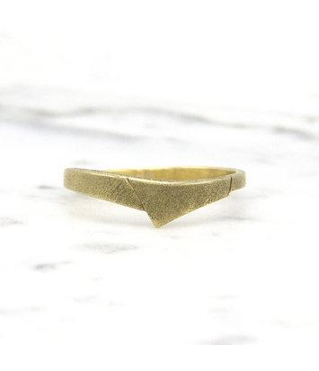 14 karaat geelgouden ring - mat  - Archi