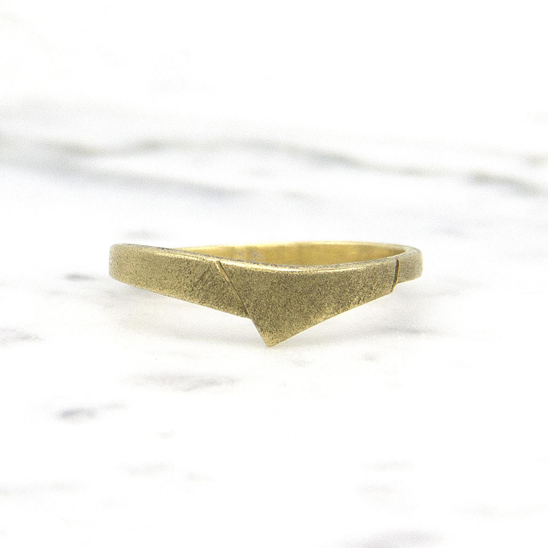 14 karaat geelgouden ring - mat - Archi-1