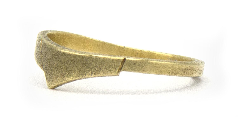 14 karaat geelgouden ring - mat - Archi-5