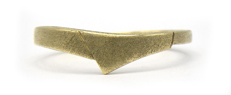 14 karaat geelgouden ring - mat - Archi-4