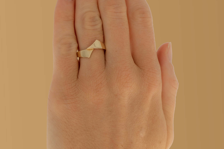 14 karaat geelgouden ring - Asym - Archi-2