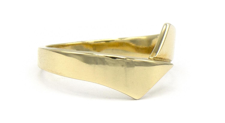 14 karaat geelgouden ring - Asym - Archi-3