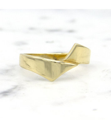 14 karaat geelgouden ring - Asymmetrisch - Archi
