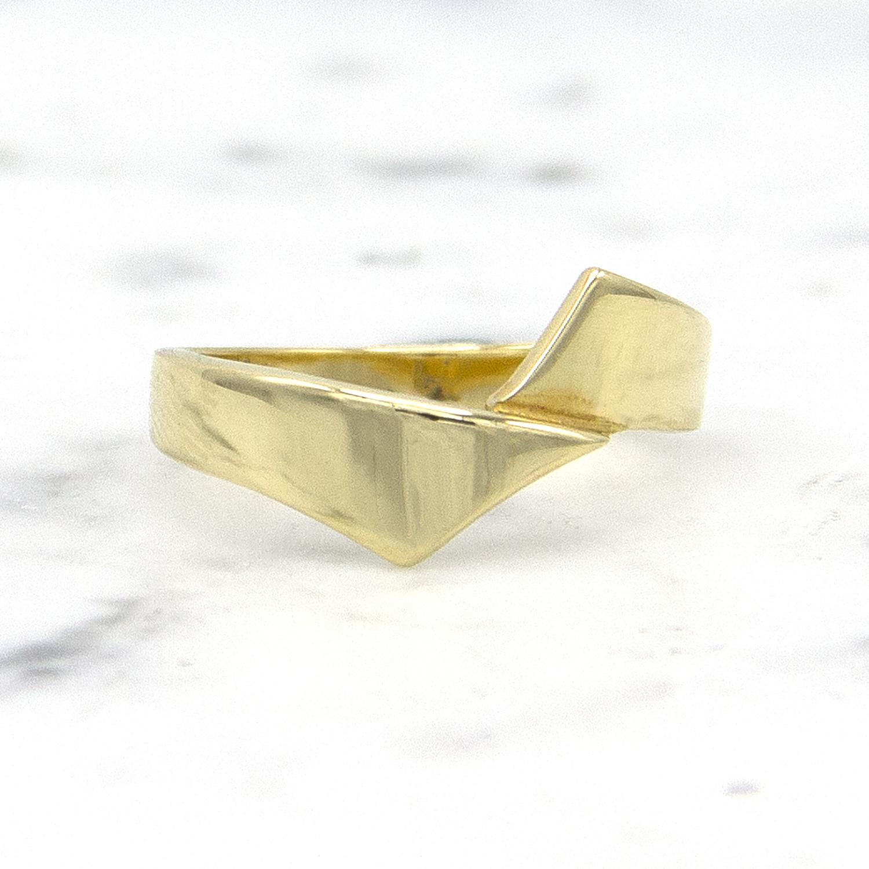 14 karaat geelgouden ring - Asym - Archi-1