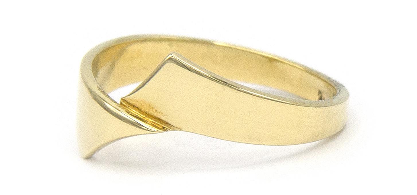 14 karaat geelgouden ring - Asym - Archi-5