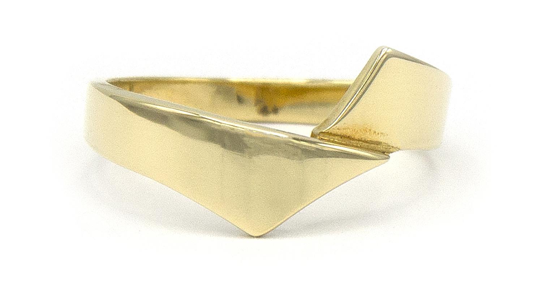 14 karaat geelgouden ring - Asym - Archi-4