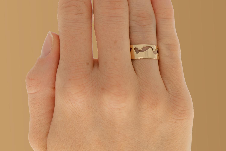 14 karaat geelgouden ring - Open - Grillo-2