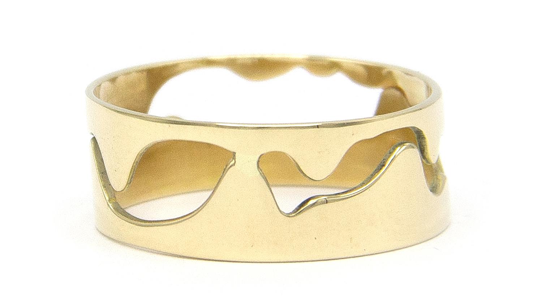 14 karaat geelgouden ring - Open - Grillo-3