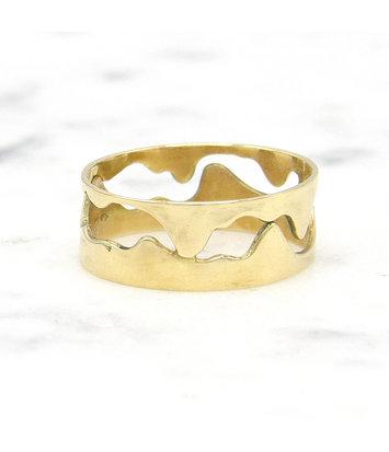 14 karaat geelgouden ring - Open - Grillo