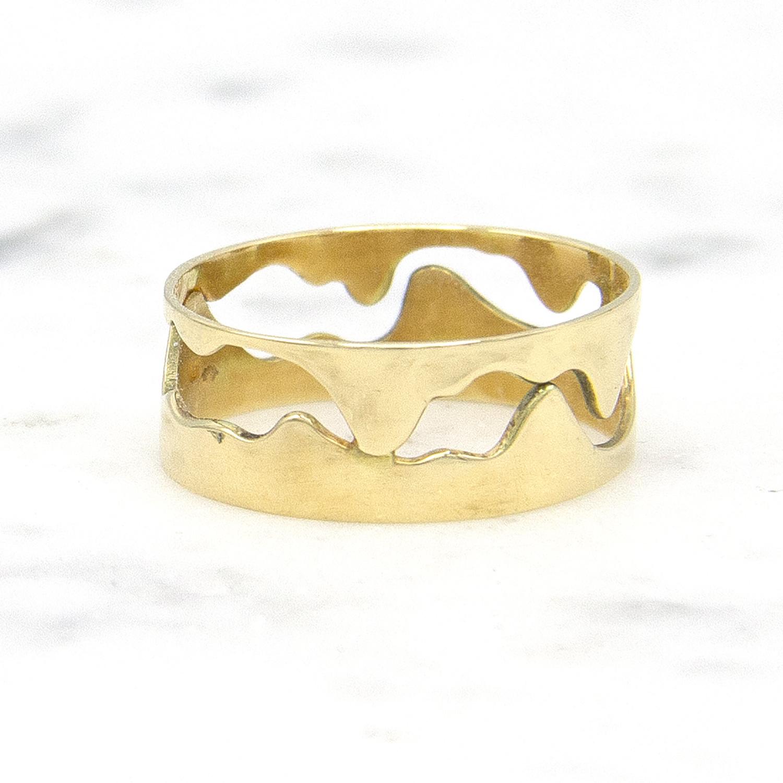 14 karaat geelgouden ring - Open - Grillo-1