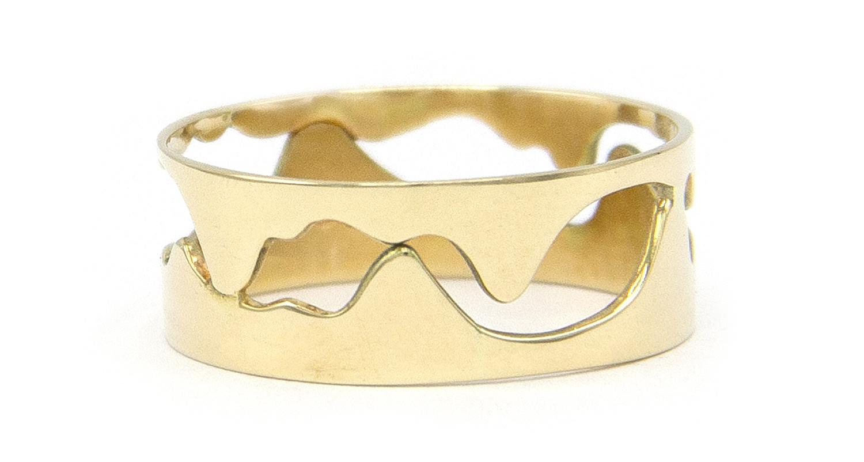 14 karaat geelgouden ring - Open - Grillo-5