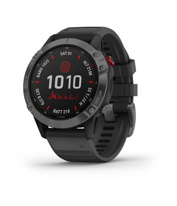 Garmin -  Horloge Heren - Fenix 6 - Pro Solar Edition