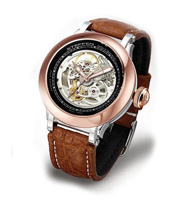 Steffen - Horloge Heren - Costructa II - Black/Rose