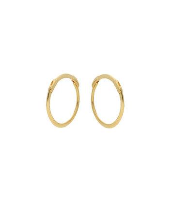 14 karaat geelgouden oorstekers - Jackie  - Mini Plain Hoops