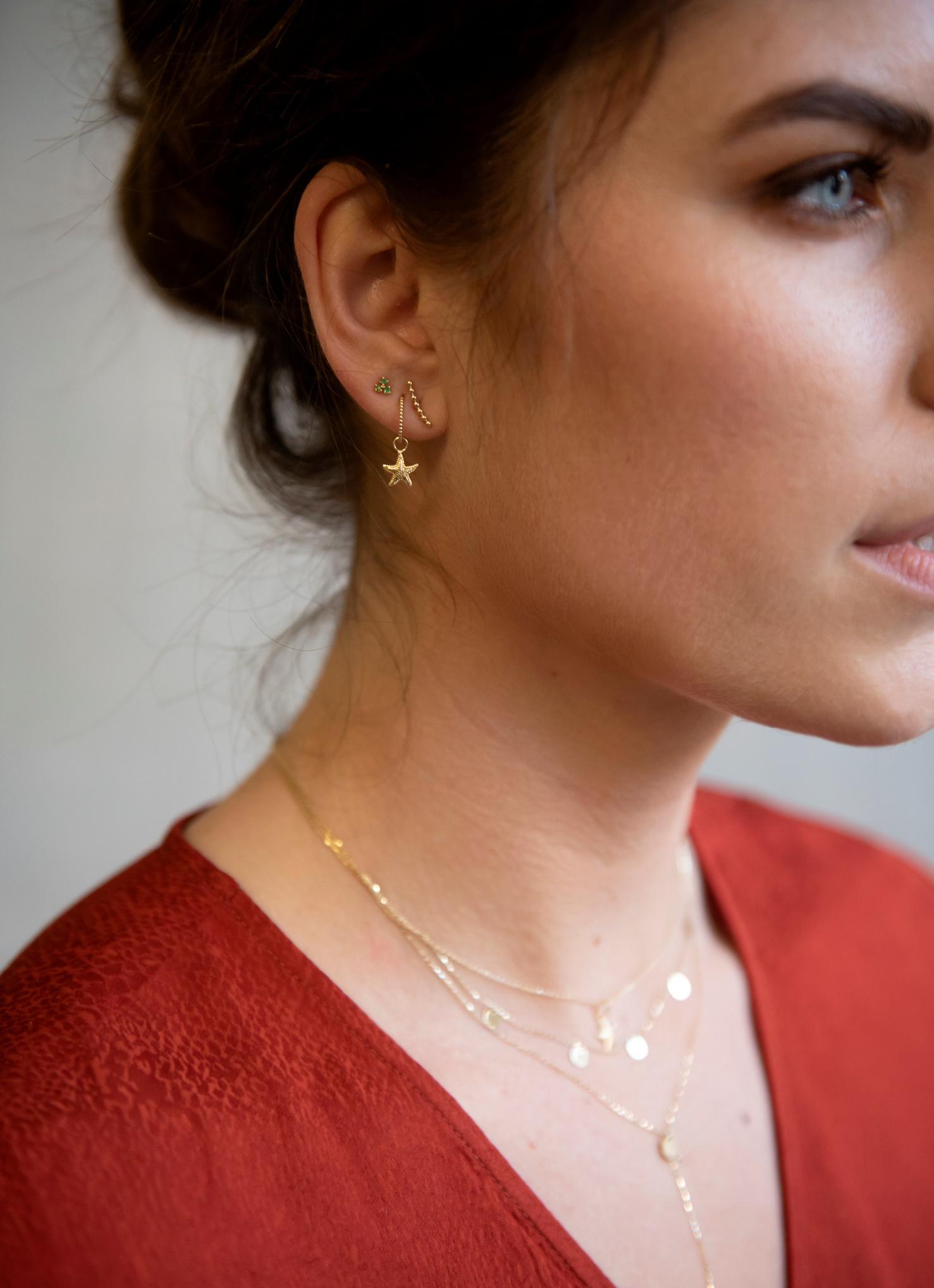 14 karaat geelgouden oorstekers - Jackie  - Mini Dots-2