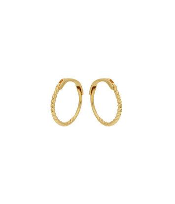 14 karaat geelgouden oorstekers - Jackie  - Mini Twist Hoops