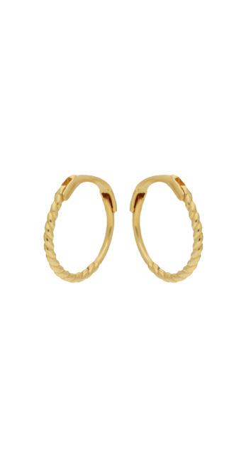 14 karaat geelgouden oorstekers - Jackie  - Mini Twist Hoops-1
