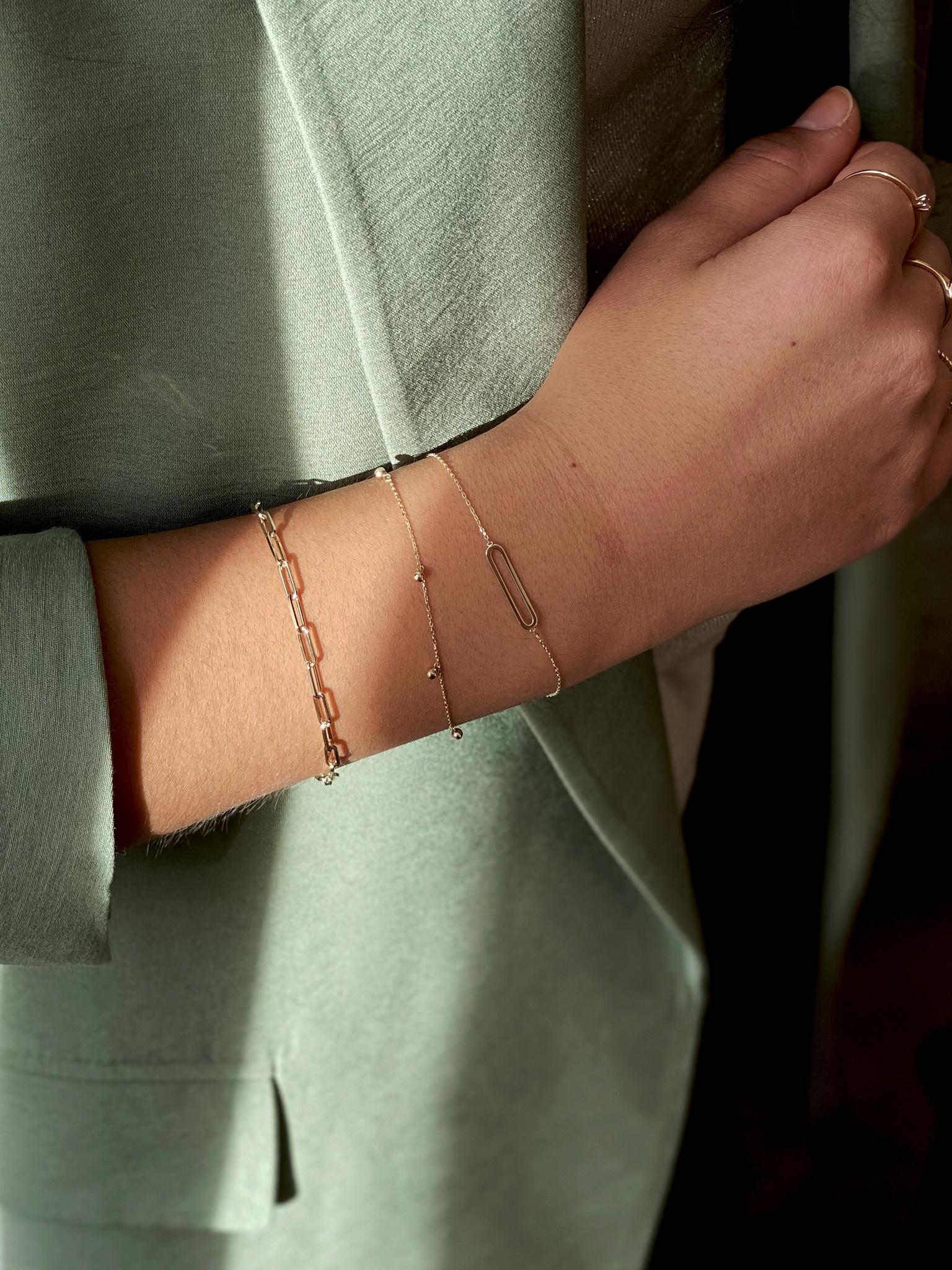 14 karaat geelgouden armband - Jackie - Link-2