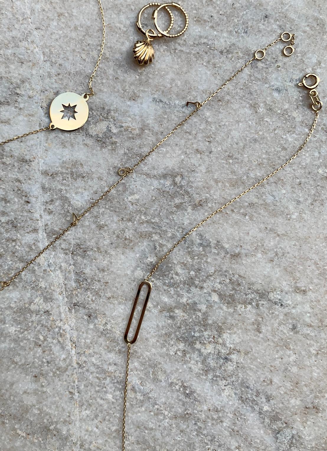 14 karaat geelgouden armband - Jackie - Link-4