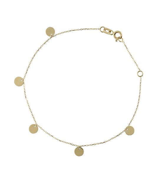 14 karaat geelgouden armband - Jackie - Discs-3